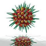 Cella verde del virus Fotografia Stock