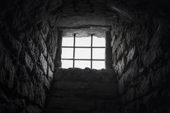 Cellar barred window Royalty Free Stock Image