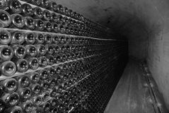 Cellar of Crimean winery on the inside. Royalty Free Stock Images