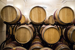 Cellar oak barrels Royalty Free Stock Photography