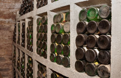 Cellar with old riesling wine Royalty Free Stock Images