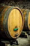 Cellar with wine barrels Royalty Free Stock Photo