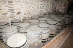Cellar Wooden Barrels Royalty Free Stock Image