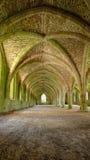 Cellarium of Fountains Abbey. The Gothic vaulted Cellarium (food storage) of Fountains Abbey, Ripon, the UK Royalty Free Stock Photos