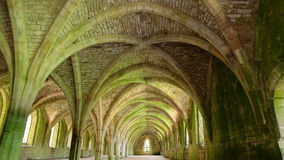 Cellarium of Fountains Abbey Royalty Free Stock Photo