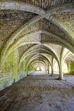 Cellarium With Vaulted Ceiling, Fountains Abbey Royalty Free Stock Photo