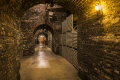 Cellars Castellane Epernay. Epernay, France - June 10, 2017: Champagne caves at the Champagne House Castellane, France Stock Images