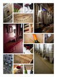 Cellars and wineries. On a wine collage Royalty Free Stock Images