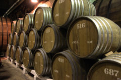The cellars of the winery Stock Image