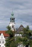 celle教会尖顶城镇 库存照片