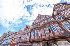 CELLE,德国- 2016年7月18日:美好的古老五颜六色的buil 库存图片