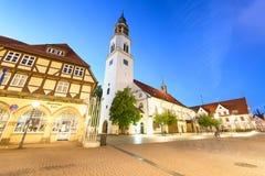 CELLE,德国- 2016年7月18日:美好的古老五颜六色的buil 库存照片