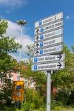 CELLE, ΓΕΡΜΑΝΊΑ - 18 ΙΟΥΛΊΟΥ 2016: Οδικά σημάδια στο κέντρο πόλεων celle Στοκ εικόνες με δικαίωμα ελεύθερης χρήσης
