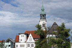 celle πόλη καμπαναριών εκκλησιών Στοκ Φωτογραφία