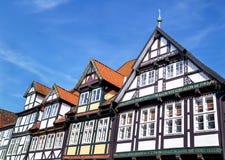 Celle, Alemanha - 1º de maio de 2017: Fachada da construção no Celle Cidade velha em Baixa Saxónia, Alemanha Foto de Stock