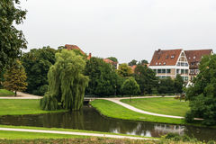 Celle castle park, Germany Royalty Free Stock Photos
