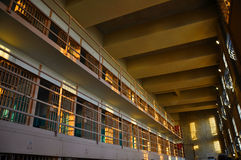 Celle di prigione di Alactraz Fotografie Stock
