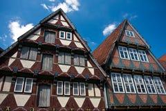 celle fram德国传统房子的木材 库存图片