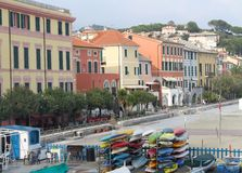 Celle Ligure - seafront Stock Image