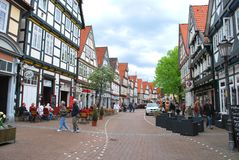 The view of the historical center of Celle stock image