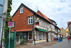 The view of the historical center of Celle stock photo