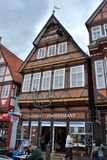 The view of the historical center of Celle royalty free stock photography