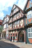 The view of the historical center of Celle royalty free stock image
