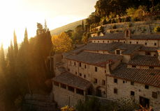 The celle of s. francesco in cortona Stock Image