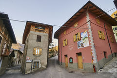 CELLEDIZZO, ITALY - MARCH 10, 2017: Center of the village on 10 Royalty Free Stock Photos