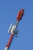 Cellen ringer antennen fotografering för bildbyråer