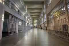 Celler för Alcatraz öfängelse Arkivfoton