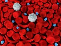 Celler för blod för blodbrist för skäracell Arkivbild