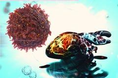 Celler för cancer för mänsklig hjärta för hjärtaforskningbegrepp vård- stock illustrationer