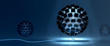 Celler för konstgjord intelligens Arkivbild