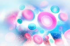 Celler med vetenskaplig bakgrund royaltyfri illustrationer