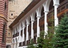 Cellerna av den Rila kloster i Bulgarien Royaltyfri Bild