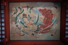 Celling αγγέλου Schrein Asakusa ζωγραφική στοκ φωτογραφία με δικαίωμα ελεύθερης χρήσης