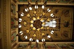 Celling lights of Congreso de los Diputados Stock Photography