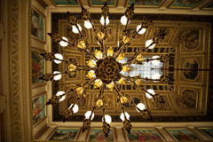 Cellingljus av Congreso de los Diputados Arkivbild