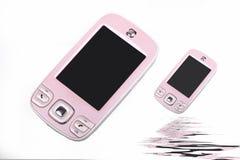 cellinnegrejtelefon Arkivfoton