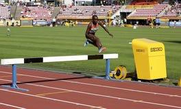 CELLIPHINE CHEPTEEK CHESPOL van de winst gouden medaille van Kenia in de 3000 meters STEEPLECHASE op IAAF-Wereldu20 Kampioenschap royalty-vrije stock foto