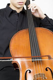 Cellist bowing 3 Royalty Free Stock Photo