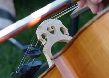 The Cellist Bridge Royalty Free Stock Images