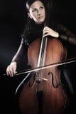 Cellist het spelen violoncel Royalty-vrije Stock Fotografie