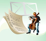 Cellist Royalty Free Stock Photo