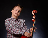 Cellist royalty free stock image