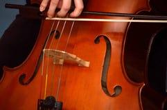 Cellist som spelar violoncellen royaltyfria bilder