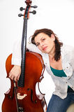 Cellist woman Stock Photography