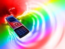 cellmobiltelefon stock illustrationer