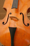 Cello. Close up of a classical wooden cello stock photo